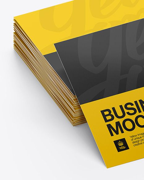 Glossy business cards stack mockup half side view stationery glossy business cards stack mockup half side view colourmoves