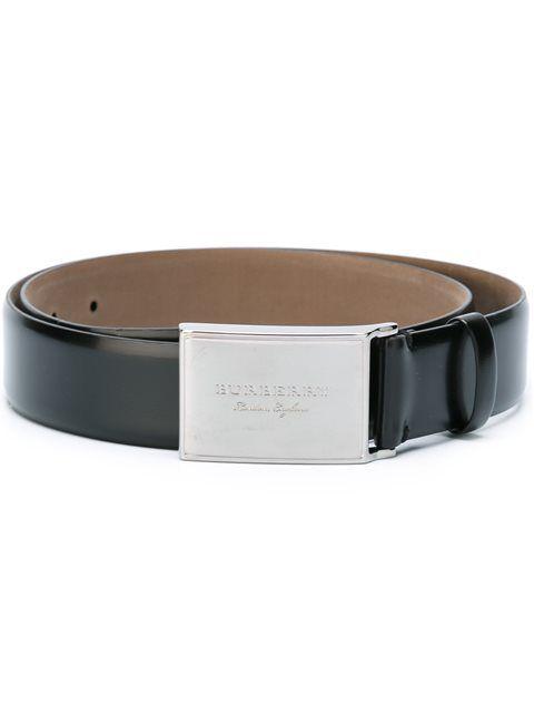 BURBERRY polished logo buckle belt. #burberry #belt