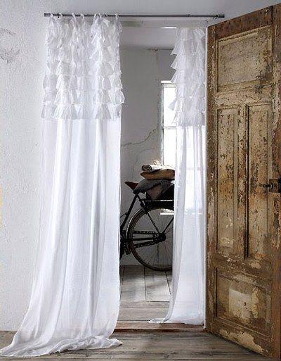 Cortinas con volantes en pinterest cortinas shabby chic - Cortinas vintage dormitorio ...
