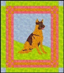 German Shepherd Quilt Pattern Cover Me Pinterest Quilts Dog