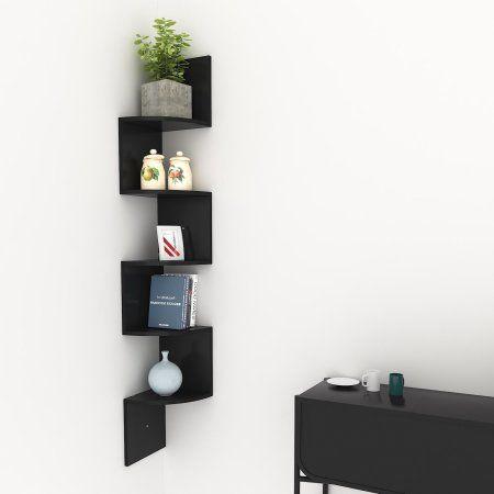 Wall Mount Modern Corner Floating Shelves Home Decor Display Shelf