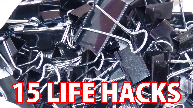 100均のダブルクリップでできる15のコト/15 Life Hack things do with