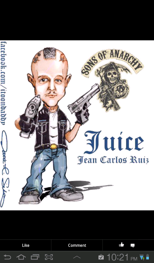 Sons Of Anarchy Juice Artwork By Itoondaddy On Fb Hijos De La Anarquia Sons Of Anarchy Caricaturas