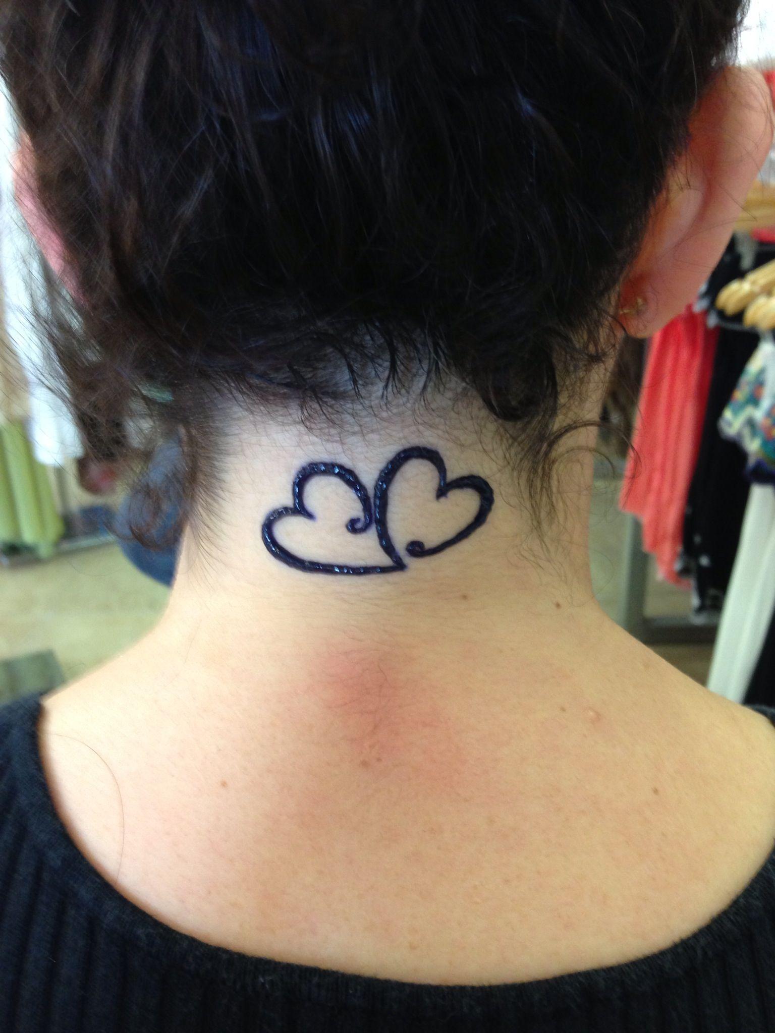 Couple Hearts Connected Henna Tattoo Henna Tattoo Ideas