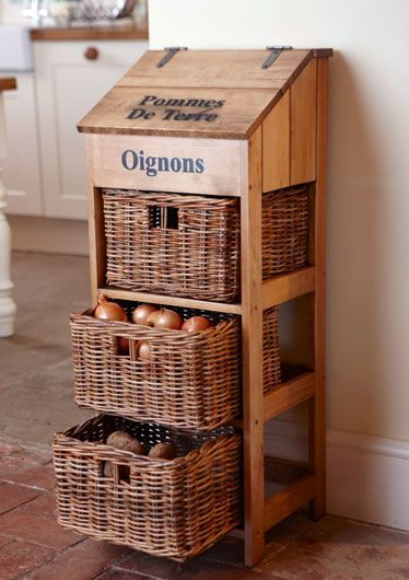 Vegetable Bins Diy Kitchen Storage Woodworking Projects Diy Potato Bin