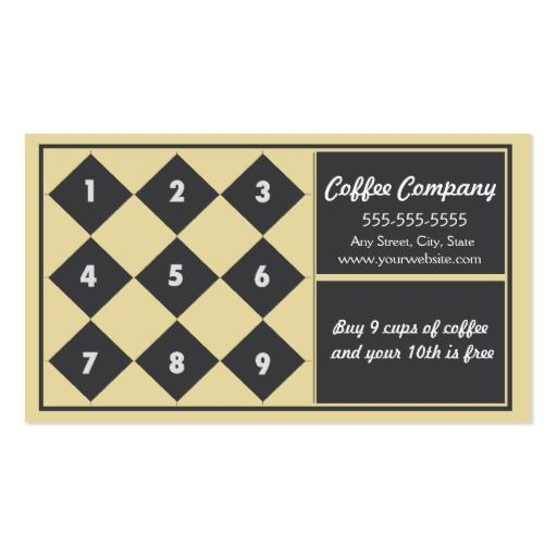 Coffee loyalty business card punch card loyalty cards business coffee loyalty business card punch card loyalty cards wajeb Images