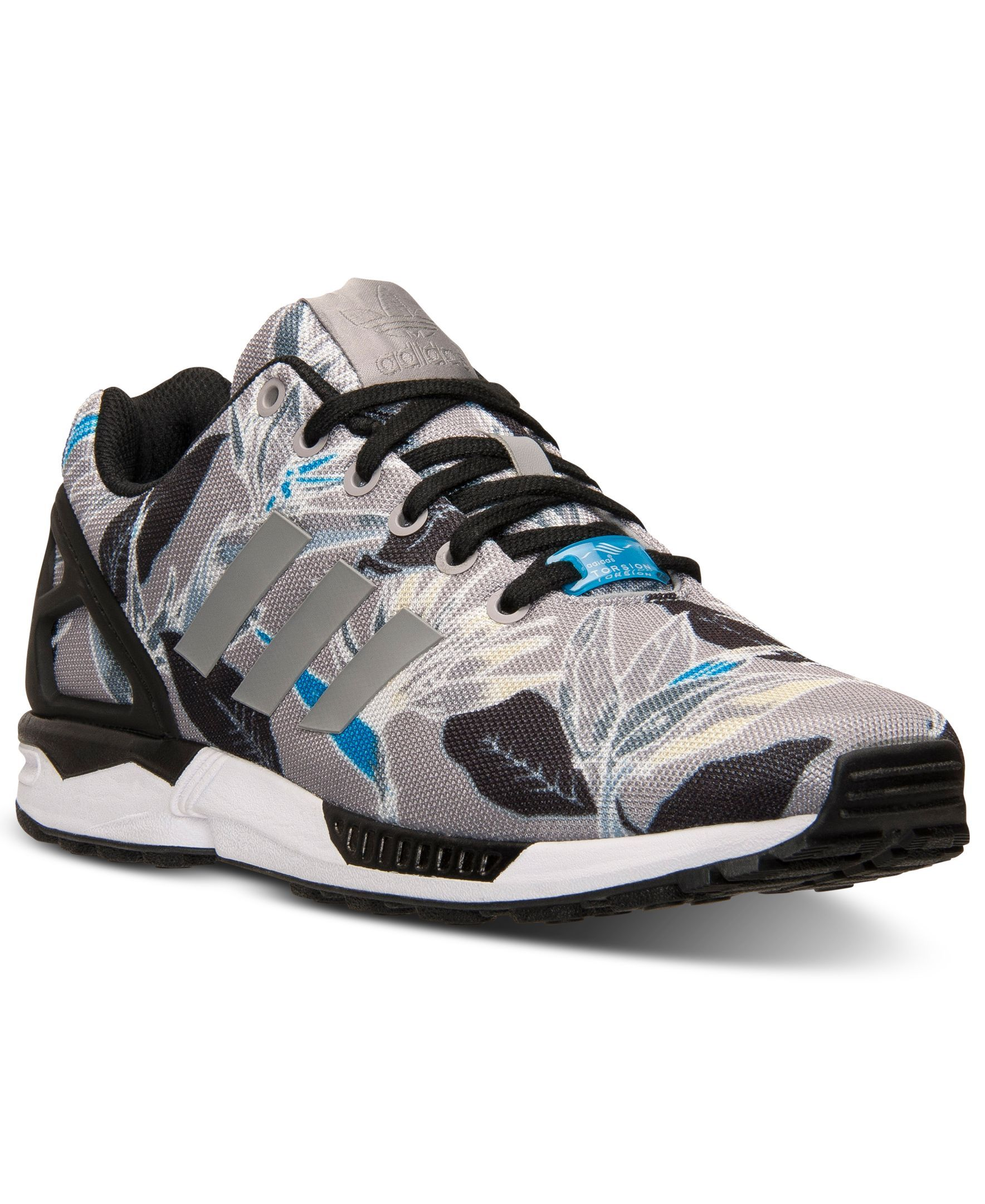 ef1852dae341 adidas Men s Zx Flux Floral Print Casual Sneakers from Finish Line ...
