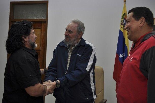 El Dieguito Maradona Fidel Castro Hugo Chávez Diego Maradona Fidel Castro Hugo Chávez