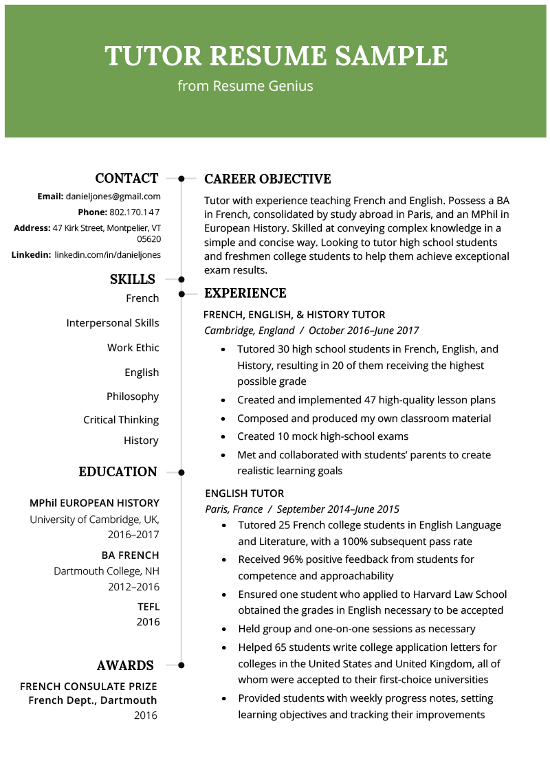 A free critique from a resume expert. 24 People Skills You Need For Career Success Writing Tips Tutor Teacher Resume