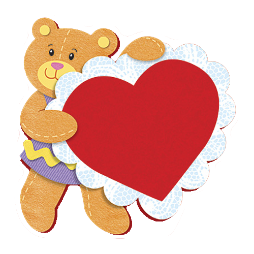 ألبومات صور منوعة ألبوم صور قصاصات فنية رائعة لكتابة الكلمات والعبارات ورمزية مفرغة بخلفية شفافة للتصميم Bear Valentines Shaped Cards Valentine