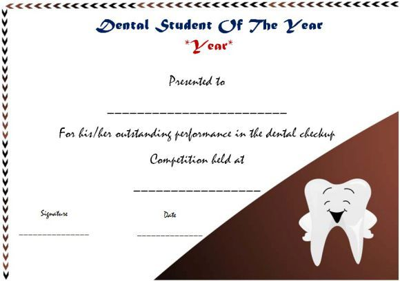 Dental student of the year award student of the year award template dental student of the year award yelopaper Image collections