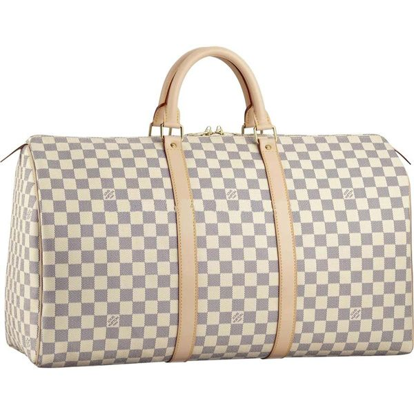 55113c6a4 Louis Vuitton Damier Azur Canvas Keepall 50 N41430 Size:19.7