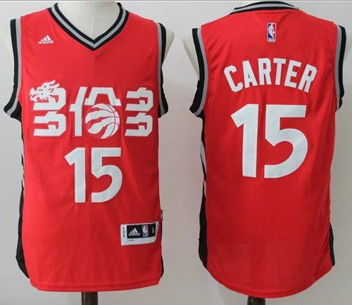 new arrival 337a3 cde58 Raptors #15 Vince Carter Red Slate Chinese New Year Stitched ...