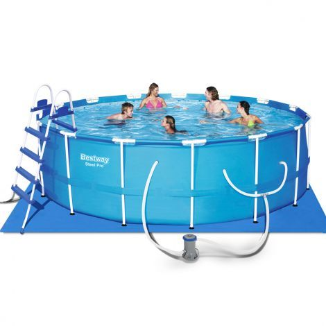 Bestway Inflatable Steel Pro Frame Outdoor Swimming Pool With