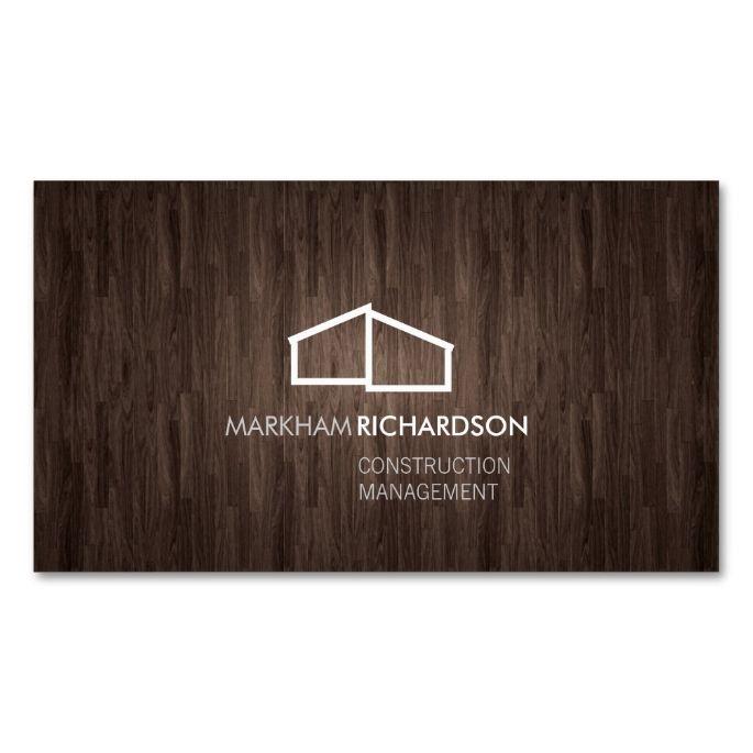 Logo Ii Brown Wood Business Card