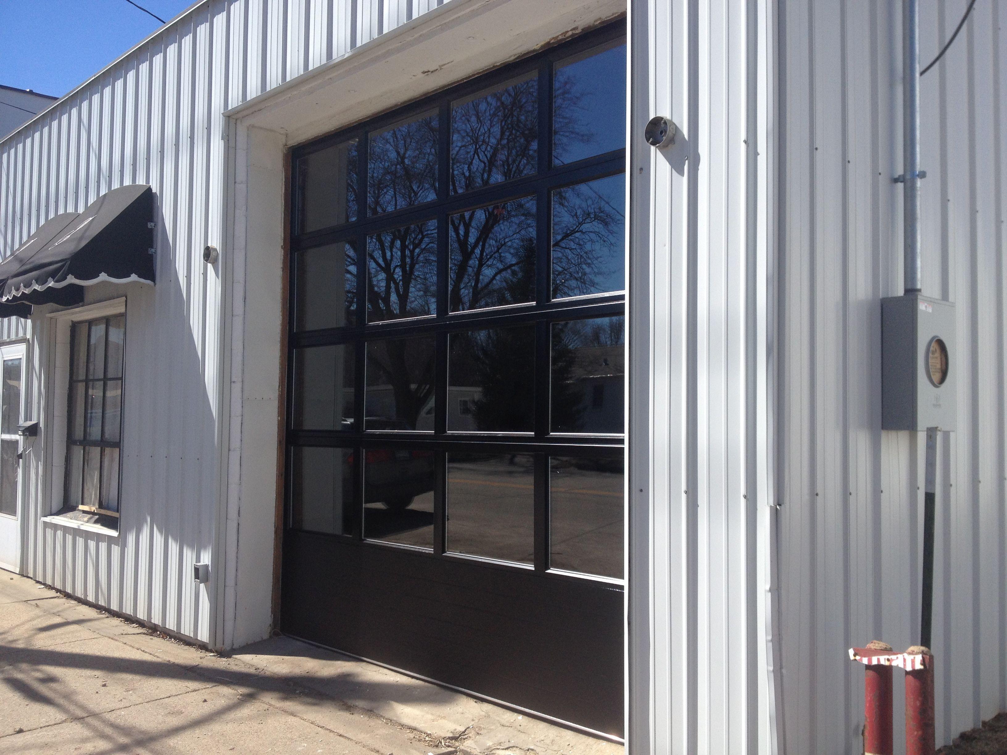 Business Garage Door With Full Glass For Optimal Light Garage