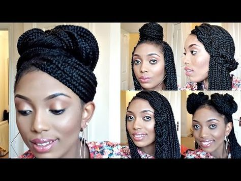 Styling Box Braids 6 Simple And Elegant Styles Youtube Cute Box Braids Hairstyles Box Braids Hairstyles Box Braids Styling