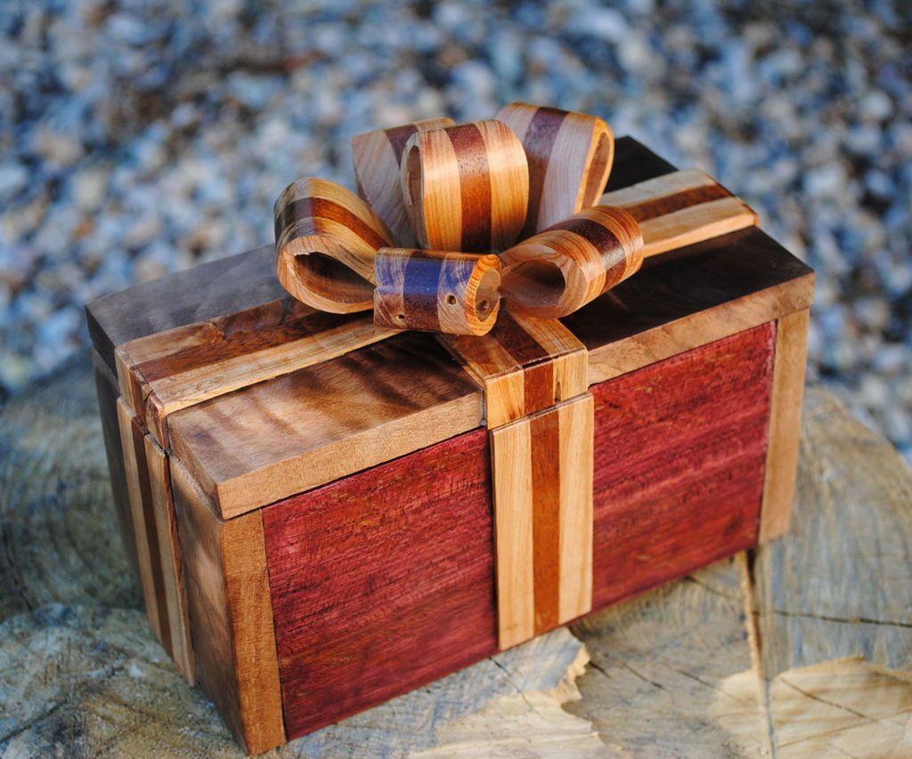 Easy Handmade Wooden Ribbon Box In 2020 Ribbon Box Wood Gift Box Handmade Wooden