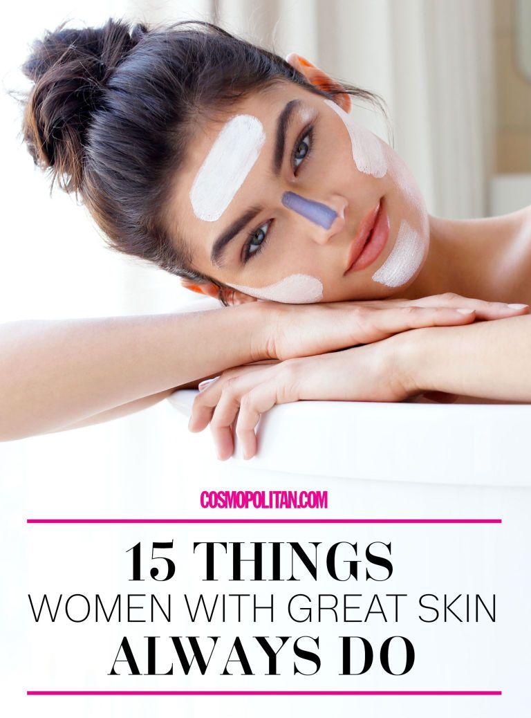 9 Things Women With Great Skin Always Do  Skin tips, Good skin