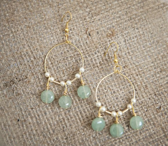 Make these lovely light jade green gold chandelier earrings gold diy green gold chandelier earring tutorial from fab you bliss love these though aloadofball Choice Image