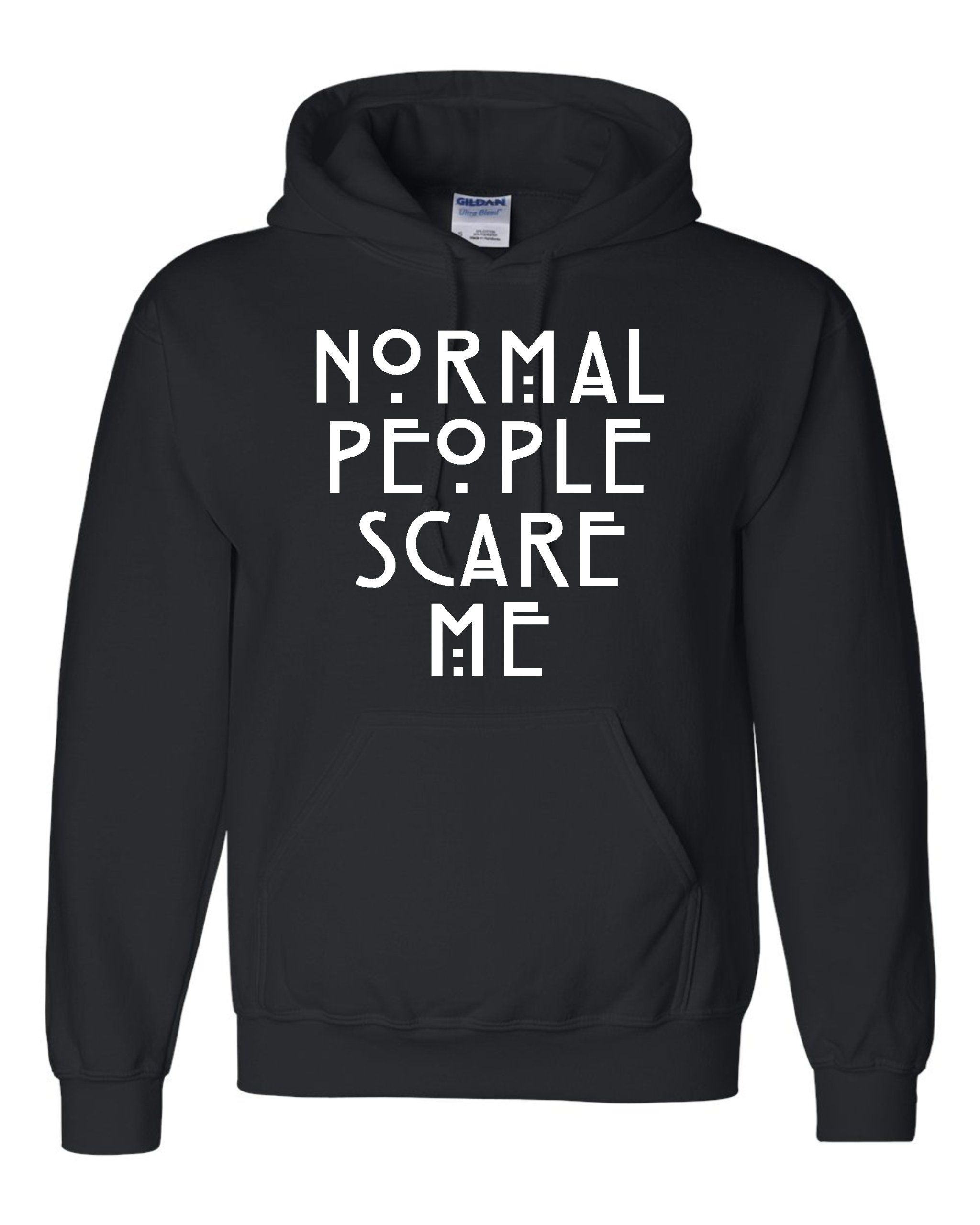 Medium Black Adult Normal People Scare Me Sweatshirt Hoodie