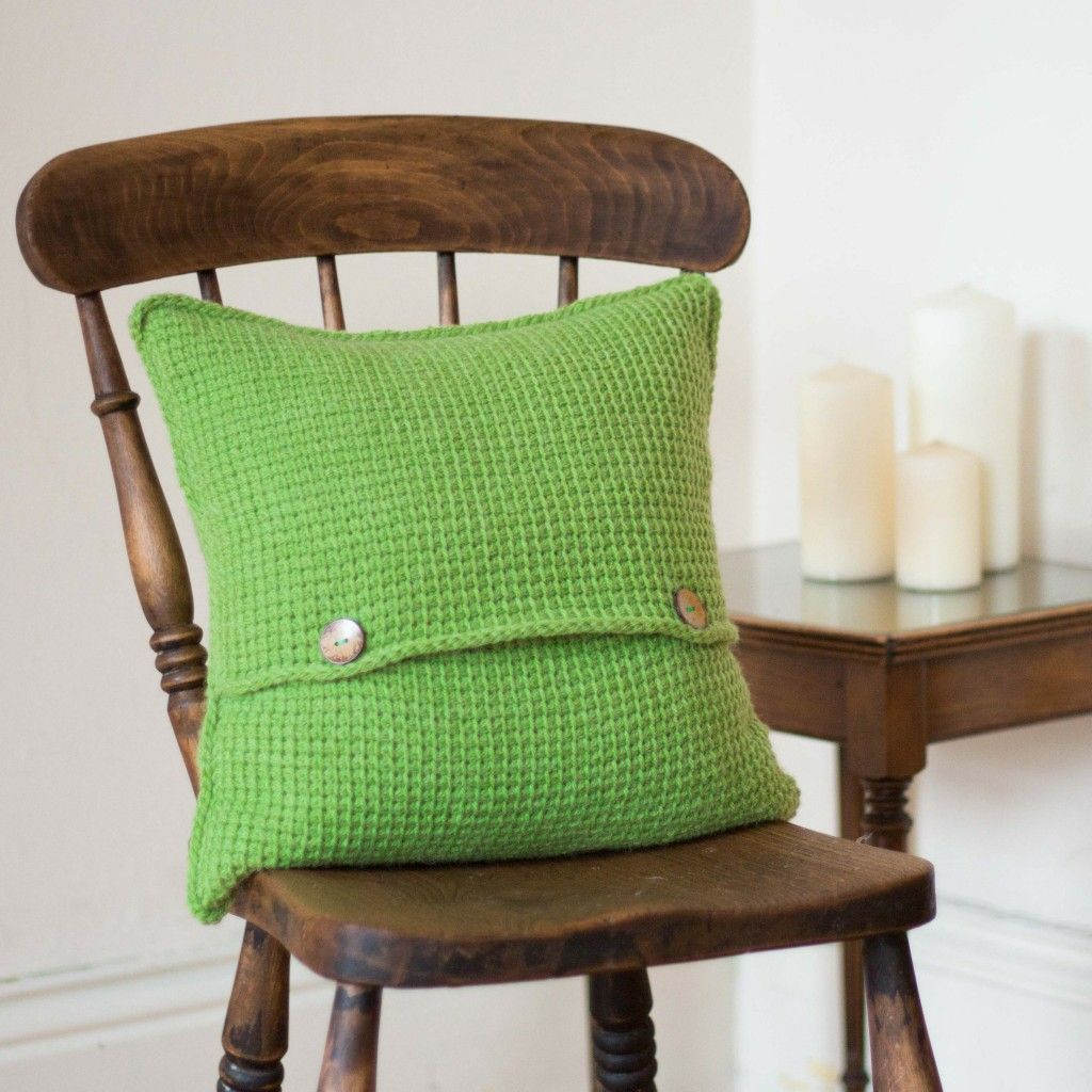 Green crochet cushion cover this green cushion cover will add a