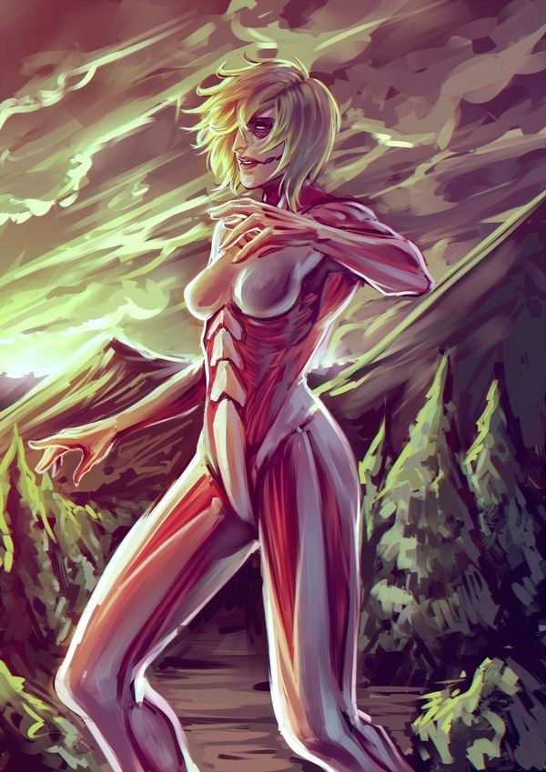Female titan form Annie Leonhardt Shingeki no Kyojin