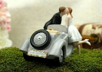 Adorable Classic Car Wedding Cake Topper! affordableelegancebridal.com