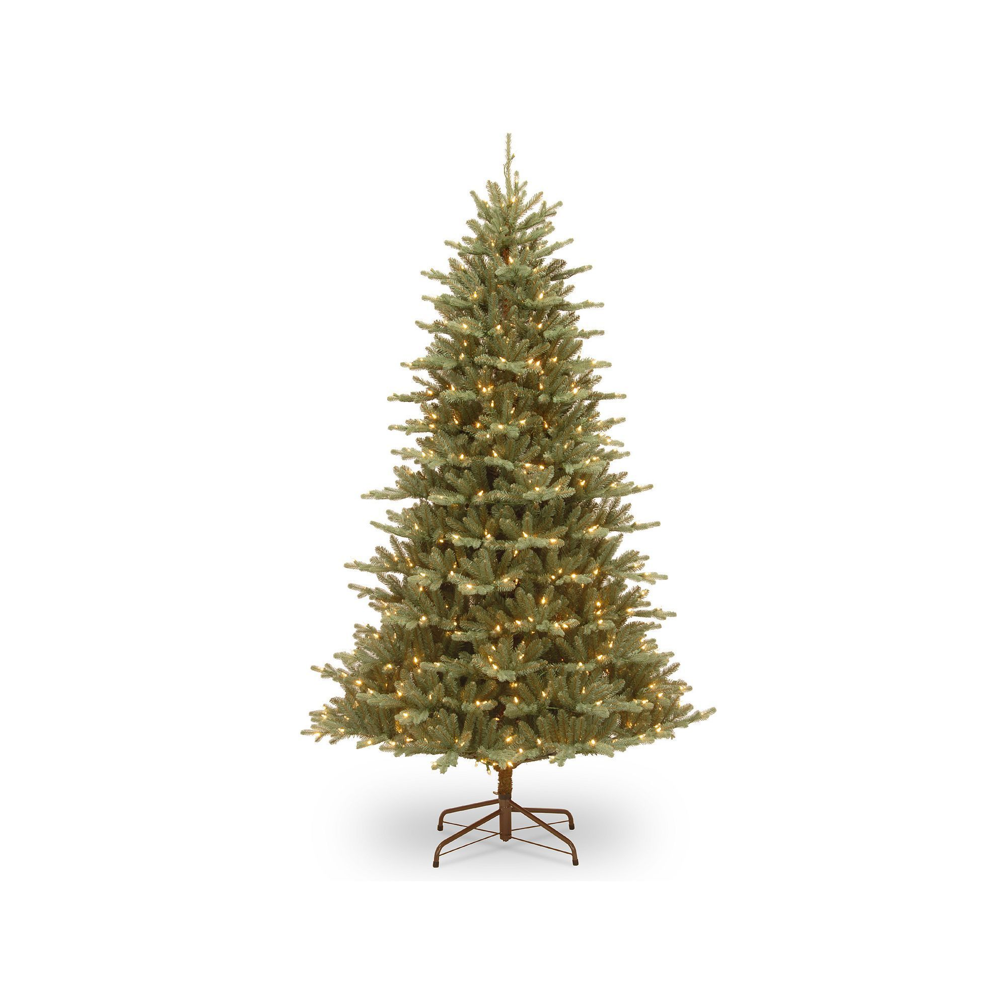 check out 89b45 a21d4 National Tree Company 7.5-ft. Asbury Blue Spruce Hinged Pre ...