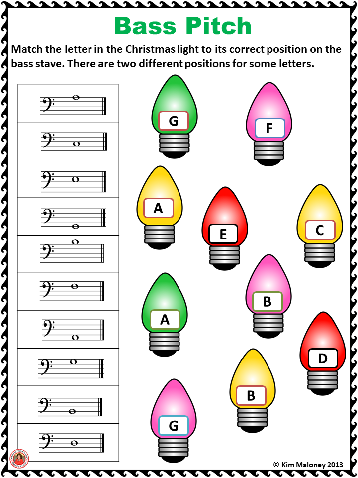Christmas Music Activities 24 Christmas Music Worksheets Music Hq