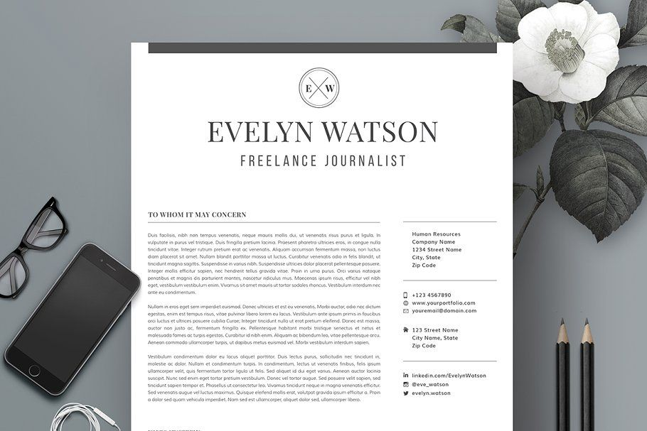Professional Resume Template RE007 Resume template