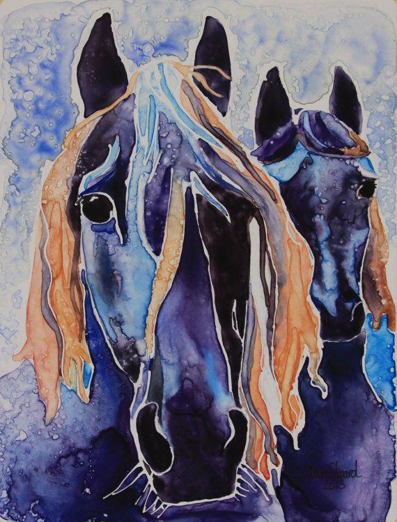 Original Horse Painting 9 X 12 By Portraitsbyshaina Horse