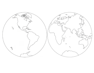 Free Parts Of The World Coloring Sheet From Helpful Garden At