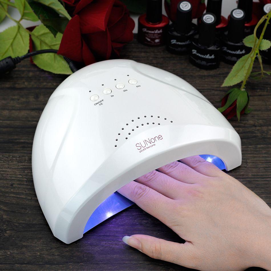 SUNone UV Lamp Nail Dryer 48W UVLED Lamp UV Gel Dryer 365+405nm ...