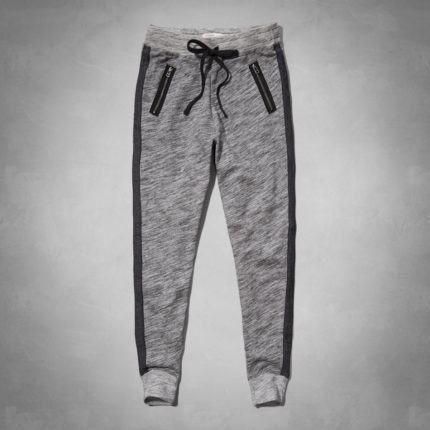 832eaa50b calças de moletom femininas com bolsos em ziper