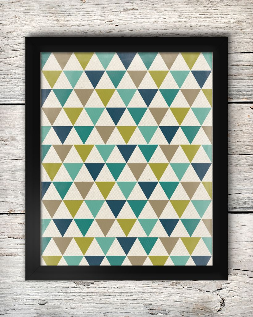 Free Teal Navy Chartreuse Grey Triangle Art Printable The Diy Mommy Triangle Art Printable Art Free Printable Art