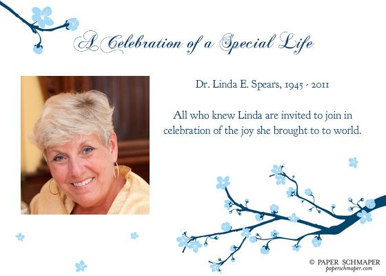 Celebration Of Life Invitations Templates A celebration of a special
