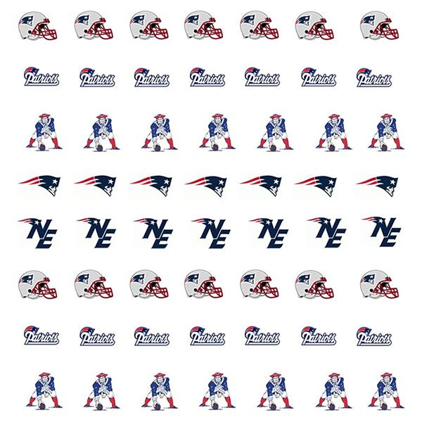 New England Patriots Nail Stickers   New England Patriots Fashion ...