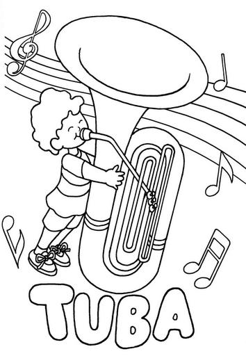 ausmalbilder instrumente  calendar june