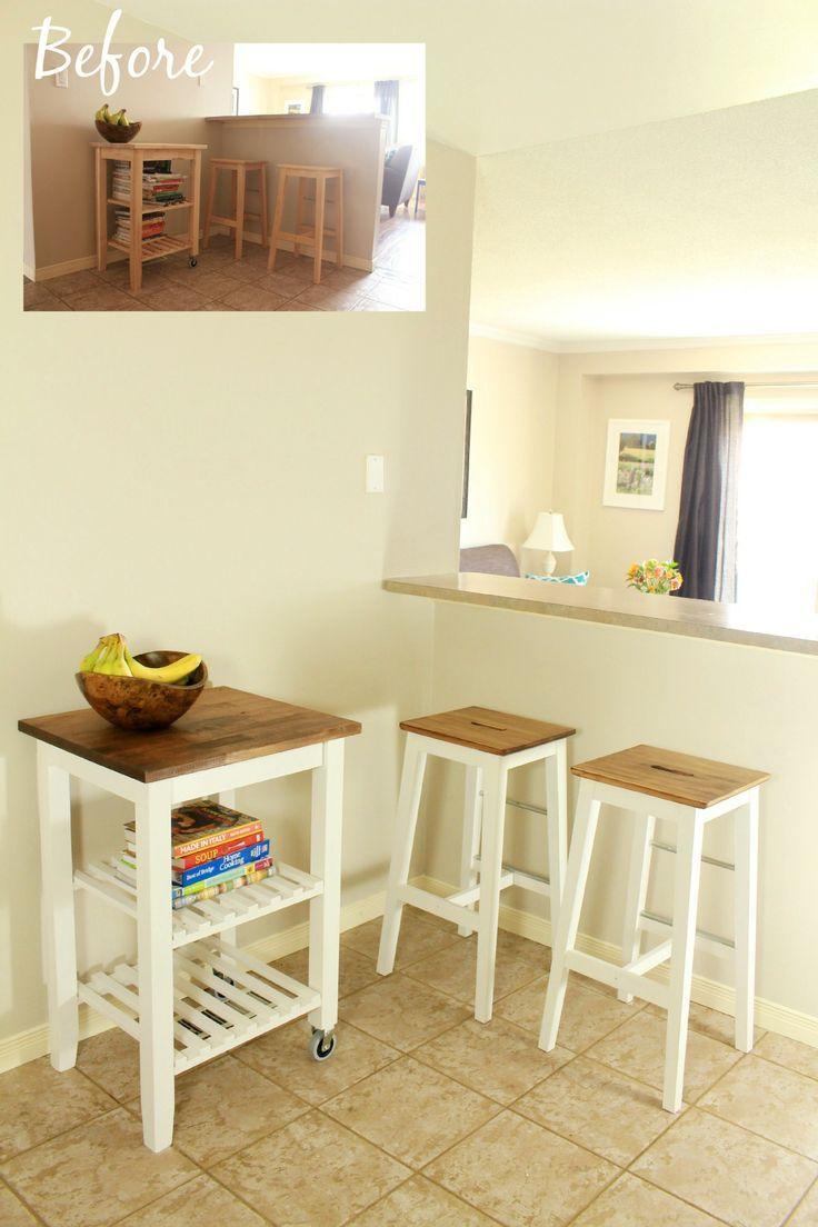 Ikea Hack Kitchen Furniture Makeover Diy Ikea Cuisinette Tabouret Cuisine