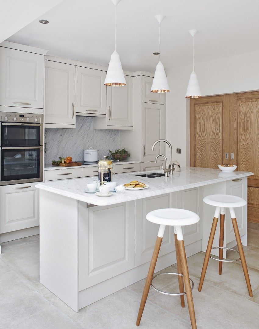 white traditional kitchen copper. White Traditional Kitchen With Copper-lined Pendant Lights - The Room Edit Copper R