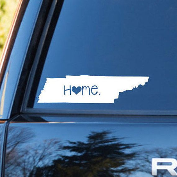 Tennessee home decal tennessee decal homestate decals by carcals