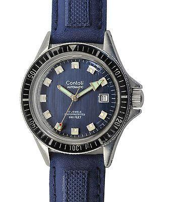 Vintage 60's CONTOLLI Automatic 30atm Screw Down Crown Diving Divers Watch