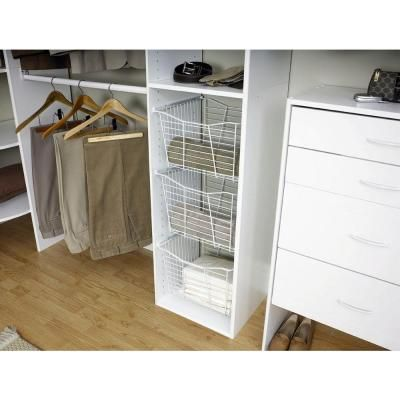 Closetmaid Selectives 10 In H X 16 In W X 13 7 In D Wire Drawer 7048 The Home Depot Closetmaid Drawers Storage Spaces