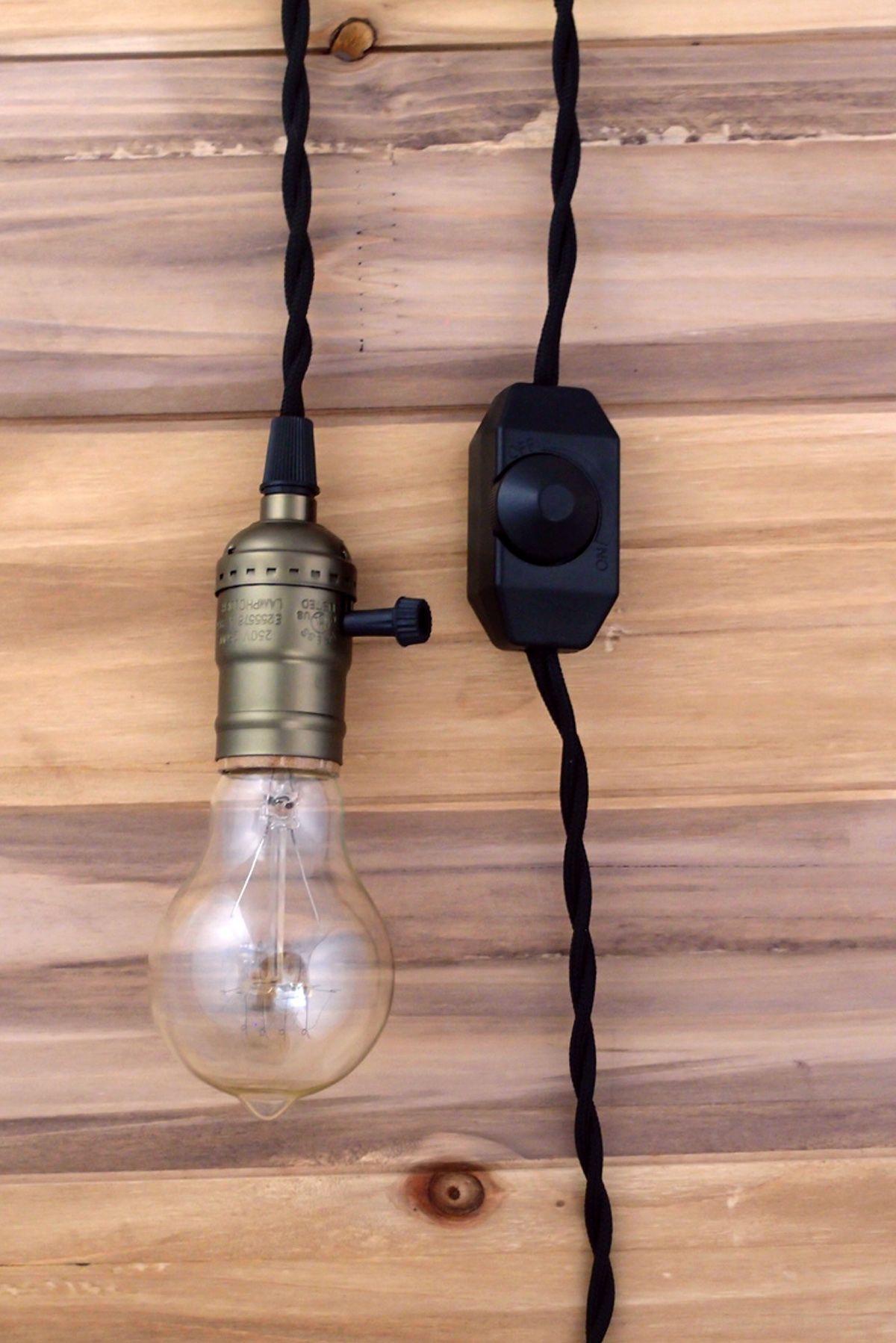 pendant light cord kit. Copper Pendant Light, Vintage Black Cloth Cord, Dimmer, Single Socket, 11 Ft Light Cord Kit R