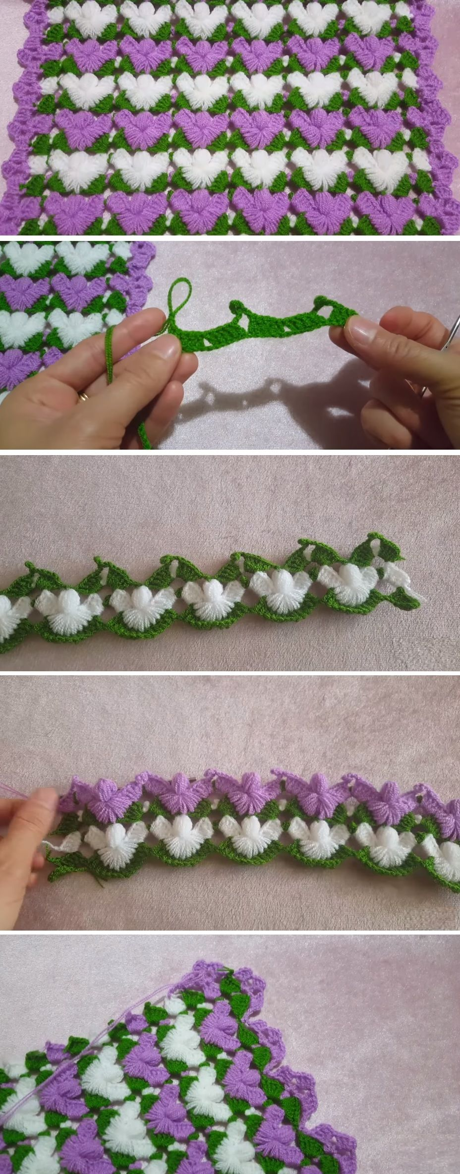 Crochet Tutorial – Beautiful Wing-Like Stitch to Make
