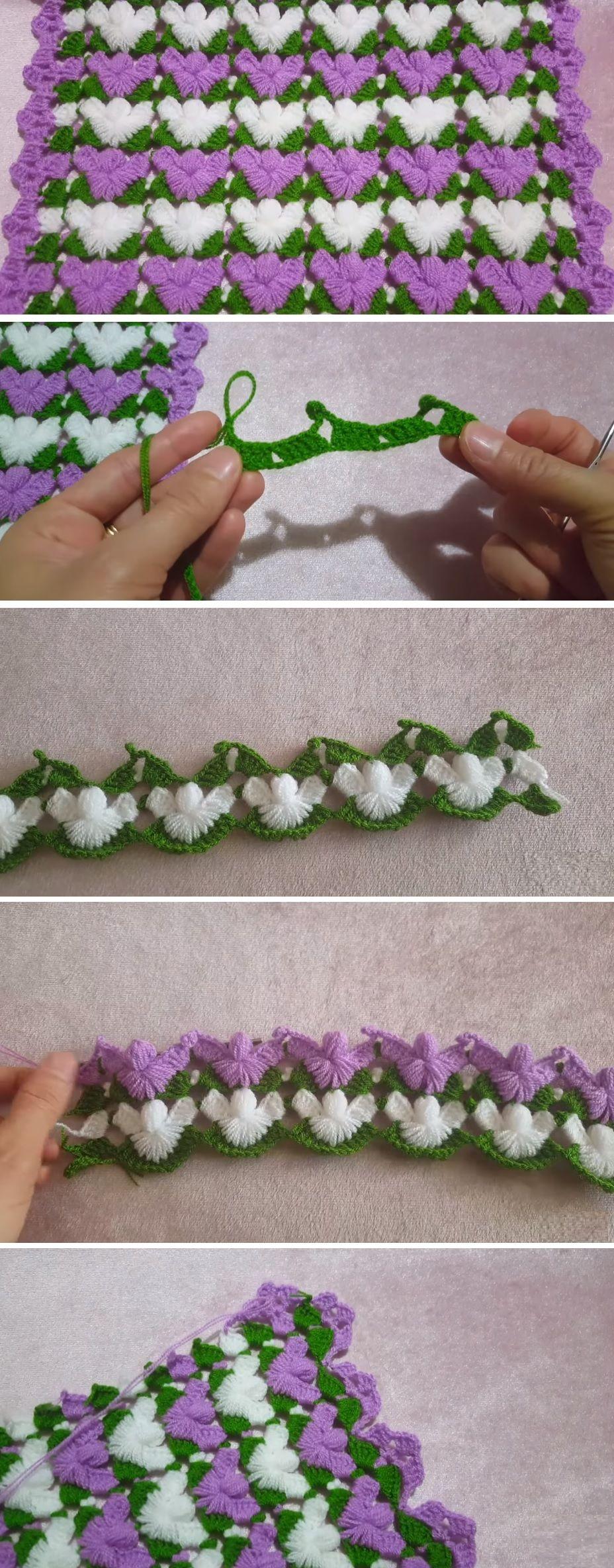 Crochet Tutorial – Beautiful Wing-Like Stitch to Make | Häkelmuster ...
