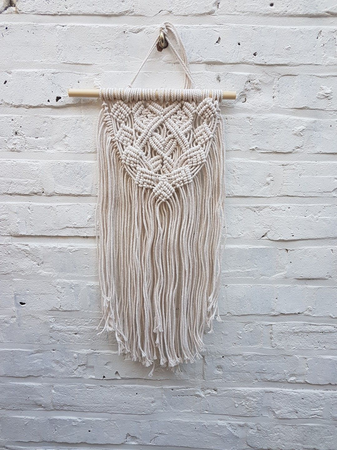 small macrame wall hanging by robyn gough macrame wall on macrame wall hanging id=67084