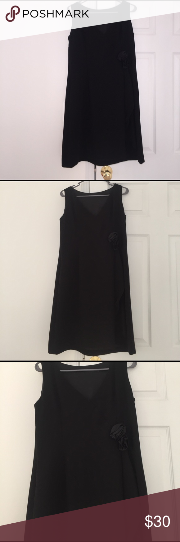 Women ann taylor mini black dress ann silk and minis