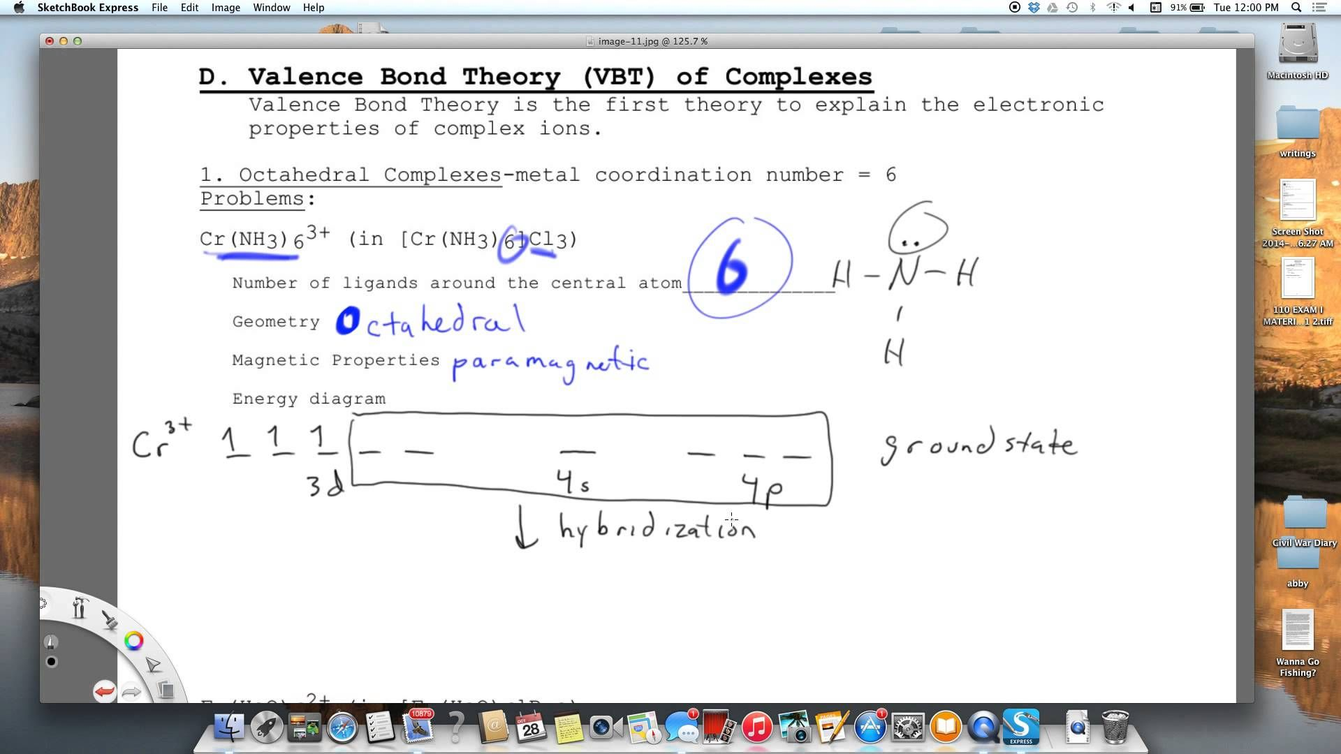 Youtube Electron Configuration Crystal Field Theory Coordination Number